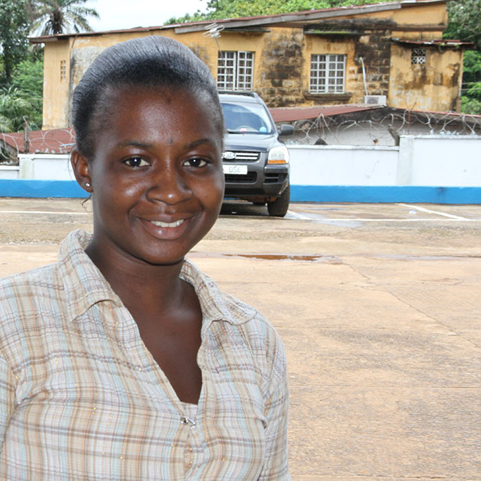 Aminata, 20, from Sierra Leone, a blogger with Plan Internationa
